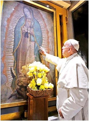 Oración Papa Francisco a la virgen de Guadalupe en México