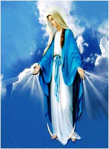 Fiesta en el cielo y la tierra alégrate María asunta en cuerpo y alma