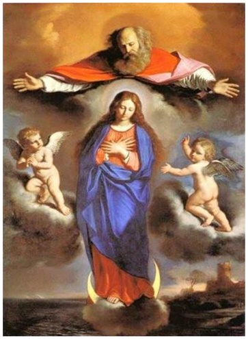 confiando en la protección de la virgen María